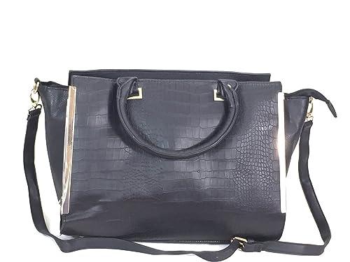 c45906db4670 Form PU Crocodile Leather Purse Bat Bag Office Bag Cross Body Black ...