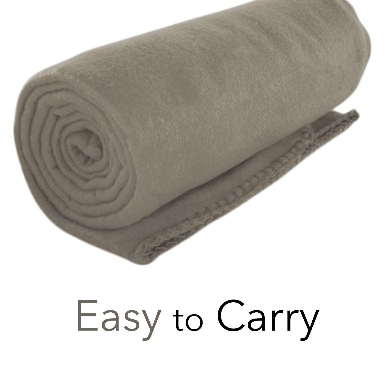 Imperial Home Cozy 50 X 60 Fleece Throw Blanket -Gray