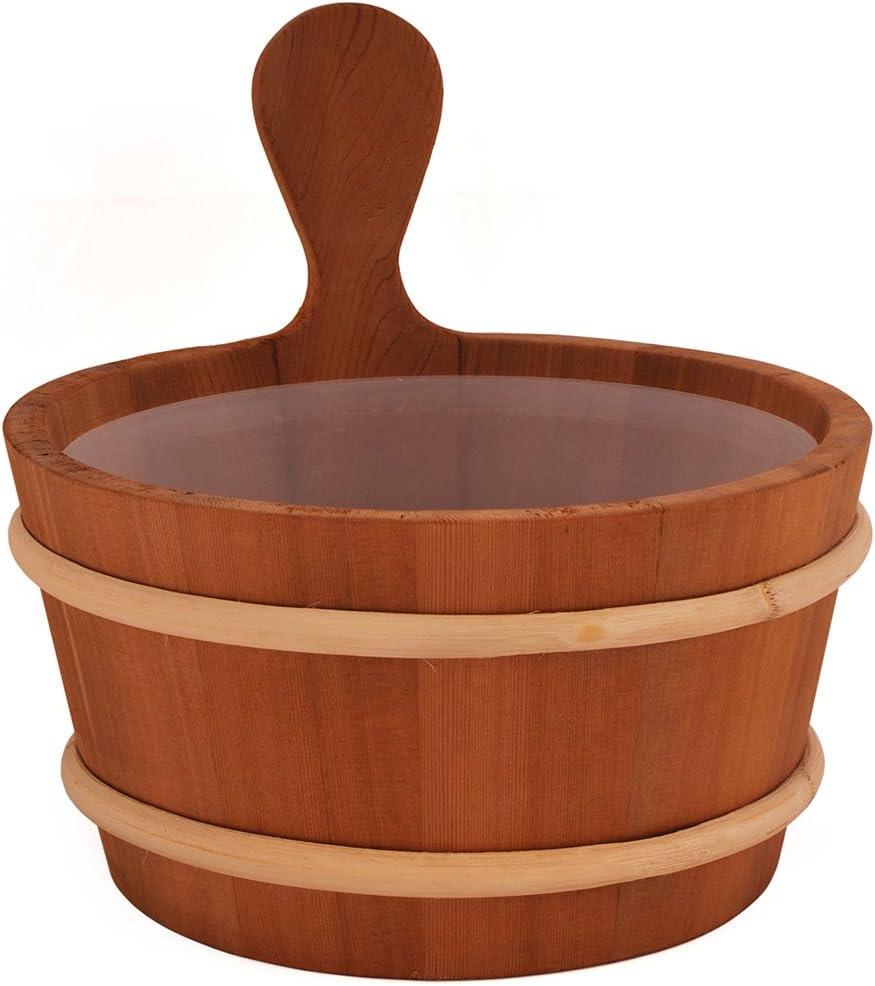 SAWO Sauna Seau en bois avec insert en plastique; Pin Aspen ou C/èdre; 3L ou 4L