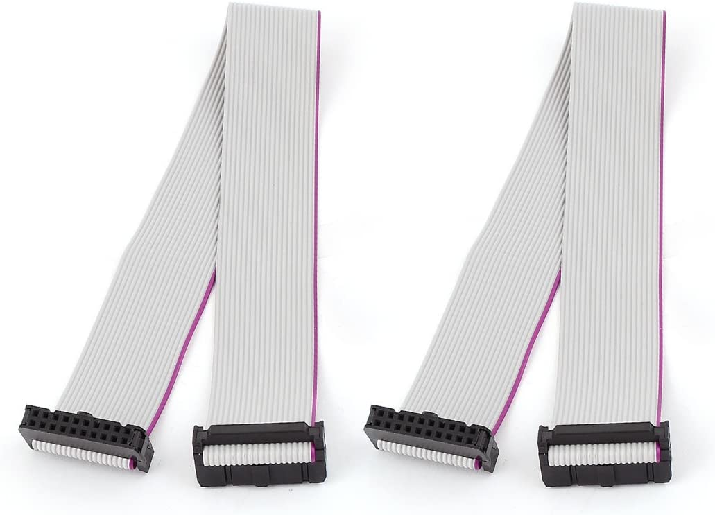 2.54mm Pitch 64 Pin 64 Way F//F Connector IDC Flat Rainbow Ribbon Cable 48cm