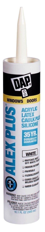 DAP INC 18152 10.1oz White Alex Plus Acrylic Latex Caulk with Silicone, Pack of 1296 Tubes