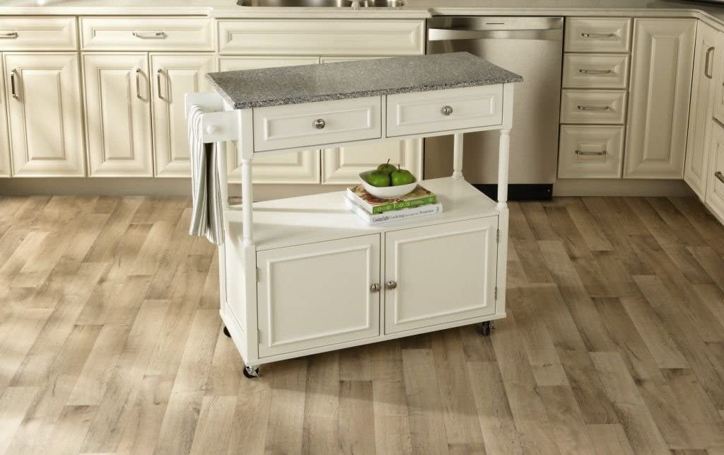 Amazon Com Sandra Lee Kitchen Island Cart Granite Top Kitchen Islands Carts
