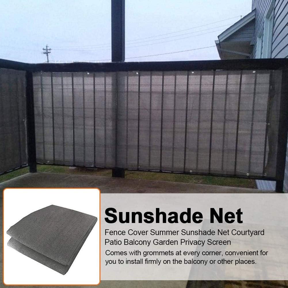 JHFSW Pantalla de privacidad de Costura del botón Neta jardín sombreado de Verano al Aire Libre Balcón pérgola Cerca de privacidad de Pantalla de privacidad de Patio Patio (Color : 0.9x5M): Amazon.es: