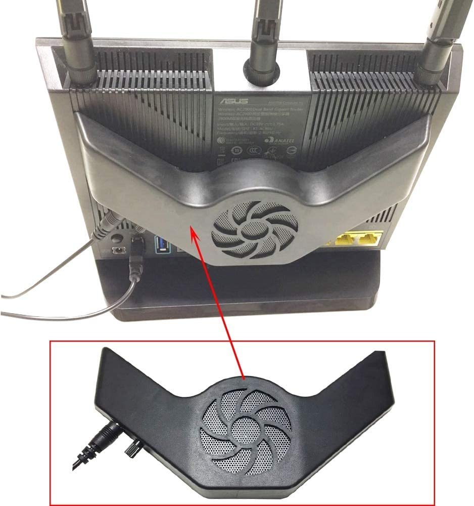 Cooling Fan Router Radiator Base USB Power Ultra Silent Dissipate Temperature Control for ASUS RT-AC5300 GT-AC5300 GT-AX11000