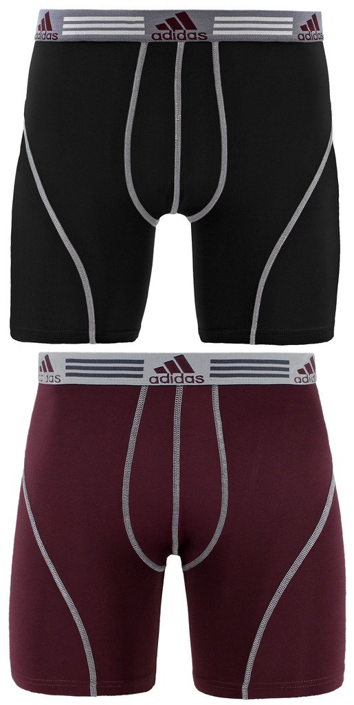 adidas Men's Sport Performance Climalite Boxer Brief Underwear (2 Pack) Agron Underwear