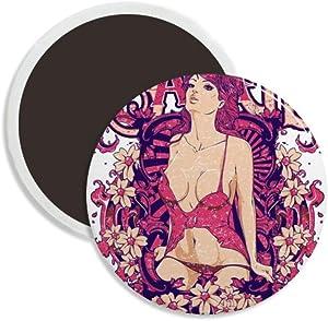 D Cups Boobs Breasts Bra Savage Round Ceramics Fridge Magnet Keepsake Decoration