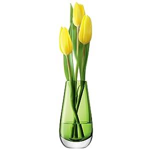 LSA Fleur Couleur Lime Vase 14cm