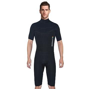 LayaTone Shorty Wetsuits para Hombres Neoprene 3mm Wetsuit Surf-Suit Traje  de Buceo para Surf 059f91660f4