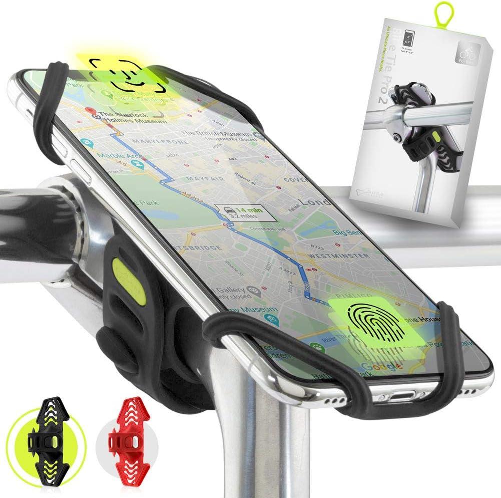 """Bone Collection Soporte Teléfono Compatible Reconocimiento Facial Bicicleta para Montaje en Potencia Smartphones Pantalla 4"""" - 6.5"""", Diseñado para Bicicleta de Carretera, Competición y Paseo"""