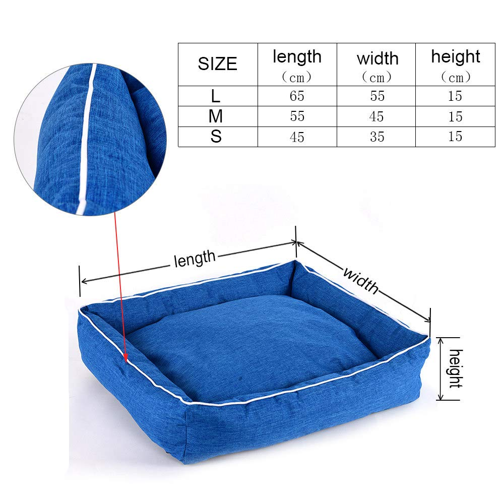 bluee S 45 x 35 x 15cm bluee S 45 x 35 x 15cm Cookisn Pet Bed for Dogs Cats Cotton Bench for Puppy Bed for Small Medium Dogs House Warm Lounger Mats for Dogs Bed Pet Cushion COO050 bluee S 45 x 35 x 15cm