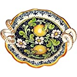 CERAMICHE D'ARTE PARRINI - Italian Ceramic Art Pottery Serving Bowl Small Centerpieces Hand Painted Decorative Lemons Tuscan Made in ITALY