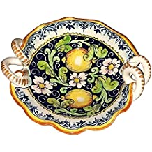 CERAMICHE D'ARTE PARRINI - Italian Ceramic Art Pottery Serving Bowl Centerpieces Hand Painted Decorative Lemons Tuscan Made in ITALY