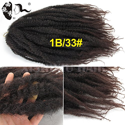 XI SHI XIU Afro Kinky Twist Hair Crochet Braids Marley Braid Hair 18inch Senegalese Curly Crochet Synthetic Braiding Hair