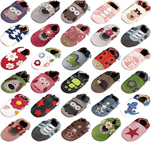 MiniFeet Premium Weiche Leder Babyschuhe, Jungen Blau Sandale 18-24 Monate
