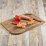 Product review for Rusticity Wooden Chopping Tray / Cutting Board / Serving Tray with Curved Edges|Handmade| (10x10in)