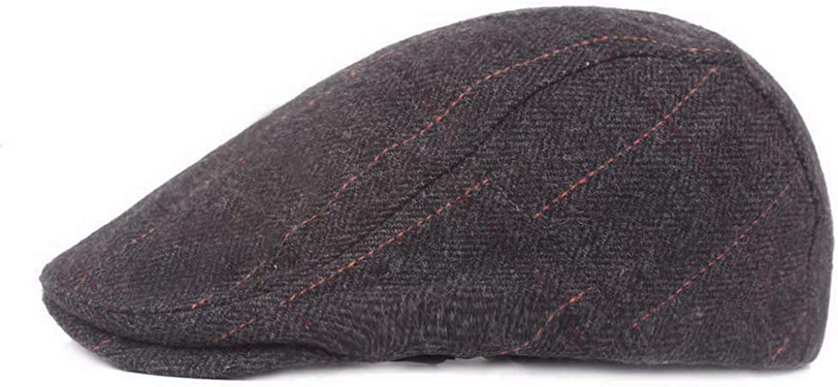 Mongous Classic Warm Cotton Flat Cap Gatsby Newsboy Ivy Irish Hats Cabbie Cap