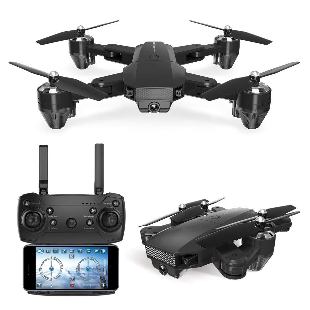 Unbekannt HAHA Drohne mit Kamera HD live übertragung,Follow Me,120°Weißwinkel 720P HD Kamera,App-Steuerung, One Key Start Landung,Headless Modus, Anfänger und Experte