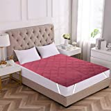 """RRC Cotton Water Resistant Mattress Protector - King Size - 72"""" x 78 Inches (Maroon)"""