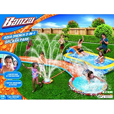 Banzai Aqua Drench 3-in-1 Splash Park: Toys & Games