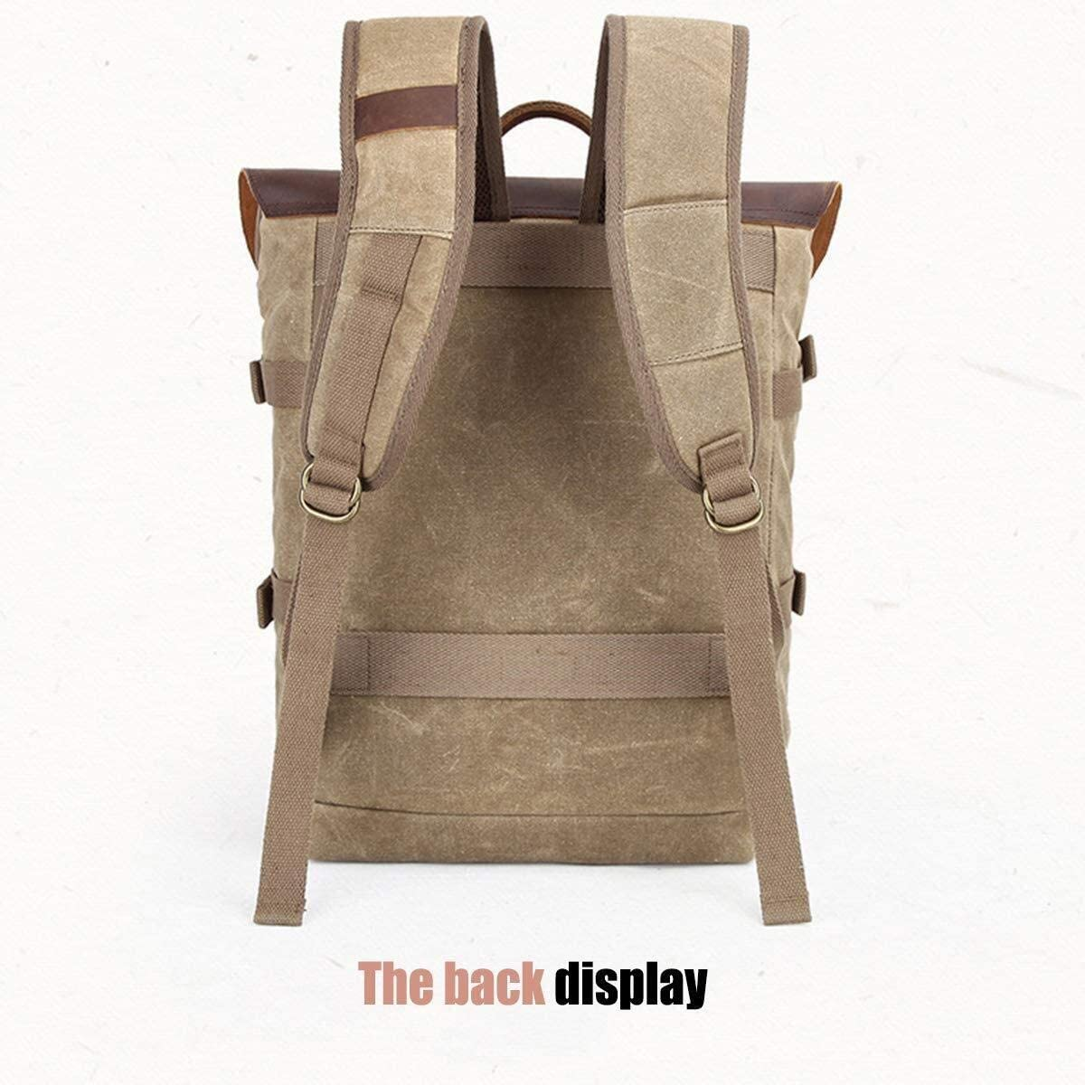 Stylish Multi-Functional Shoulder Camera Bag SLR Camera Bag Casual Travel Bag Batik Canvas Retro Fashion Digital Camera Collection Backpack Sports Backpack
