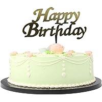 Pasta Üzeri Plexi Yazı Happy Birthday Gold Renk