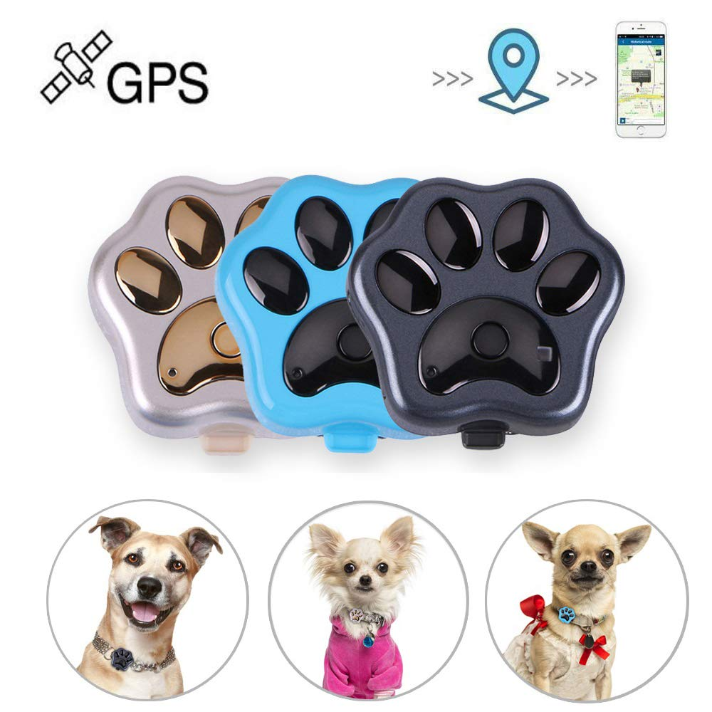 HUAXING Pets Mini GPS Tracker,Waterproof Tracking Device Built-in Magnetism with 500 Mah Electricity Standby 120 Hours, for Dogs/Cats/Pets.