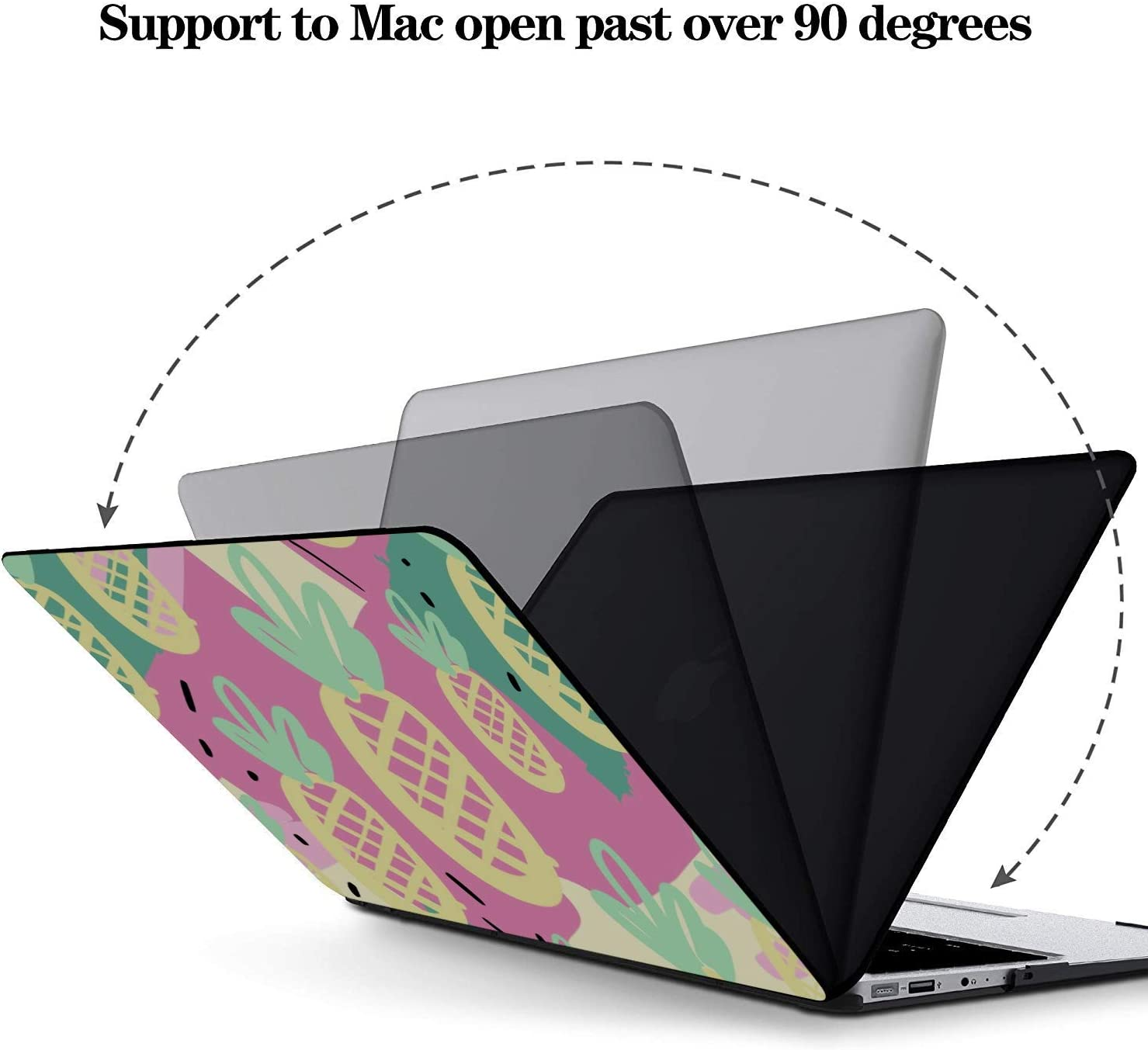 MacBook 15 Cover Summer Fashion Sour Fruit Pineapple Plastic Hard Shell Compatible Mac Air 11 Pro 13 15 Mac Cases Protection for MacBook 2016-2019 Version