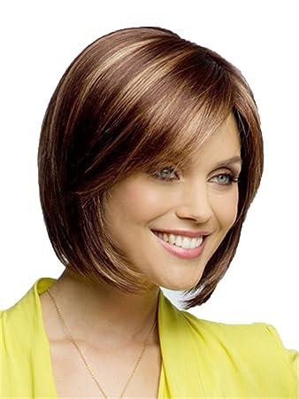Amazon Com Women Wigs Short Straight Hair Brown Wigs Highlights