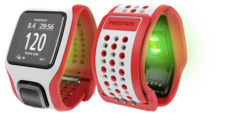 TomTom Runner Cardio - Reloj GPS para running, color blanco/rojo, talla M: Amazon.es: Electrónica