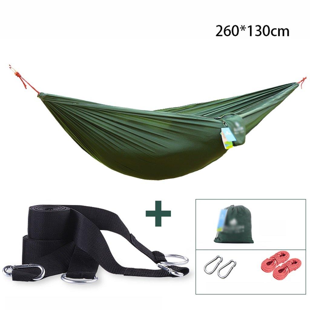 Hängematten Wddwarmhome Outdoor Tragbare Casual Parachute Tuch Haushalt Rest Hängesessel Camping Ausrüstung (260  130 cm) (Farbe : C)