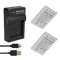 Newmowa Batterie EN-EL5 (2) et Chargeur Micro USB Portable Kit pour Nikon Coolpix P530, P520, P510, P100, P500, P5100, P5000, P6000, P90, P80
