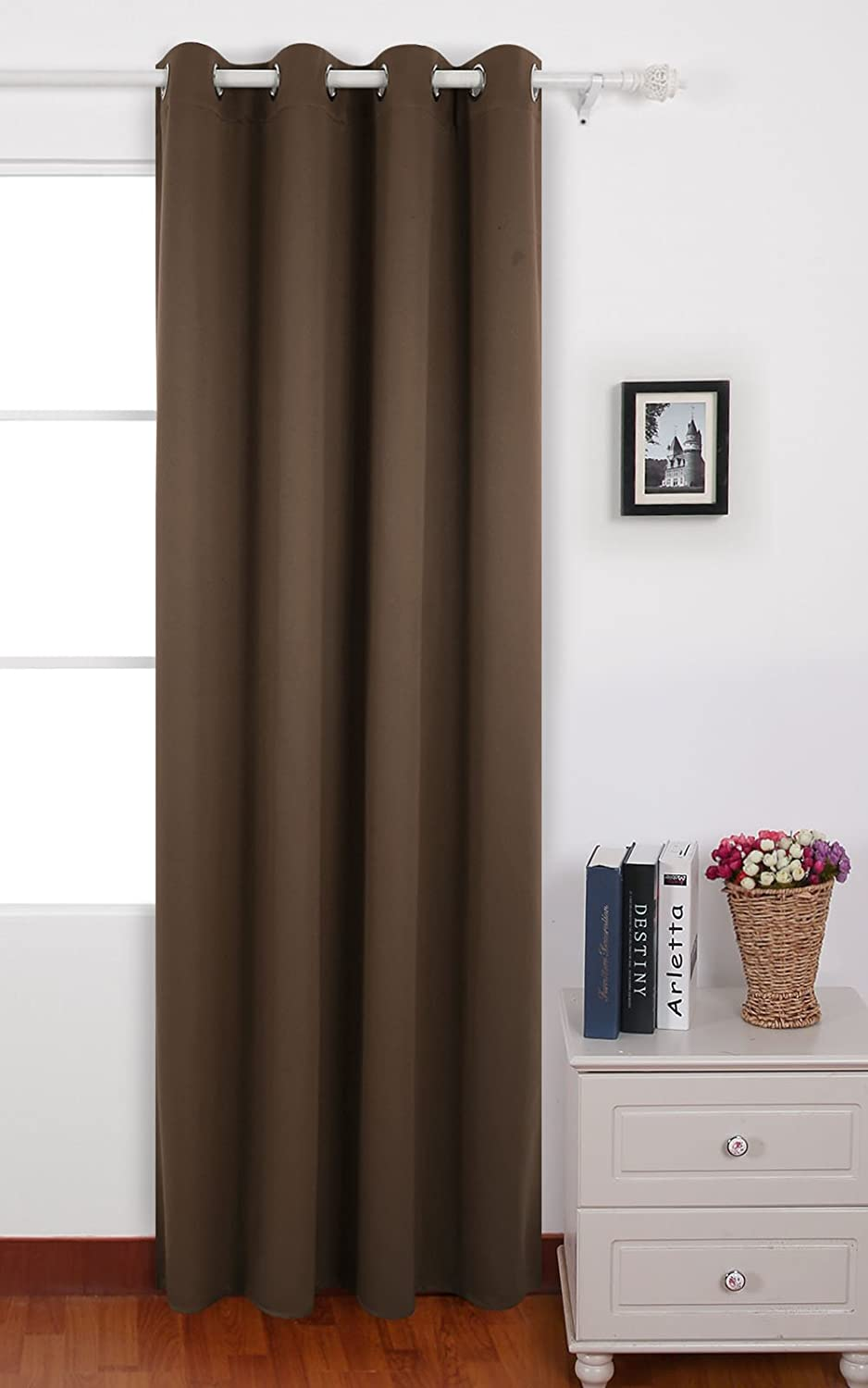 Good Deconovo Brown Thermal Insulated Bedroom Window Blackout Curtains 52 By 63  Inch One Panel: Amazon.ca: Home U0026 Kitchen