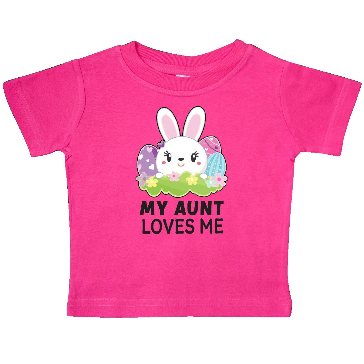 inktastic My Aunt Loves Me with Bunny and Easter Eggs Baby T-Shirt