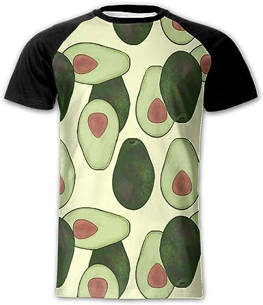 Printed T-shirt Avocado Breakfast design Short sleeve Crop length
