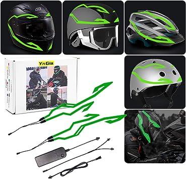3 Mode Ride Signal LED Light Motorcycle Helmet Light 4 Pcs Night Riding Led El Cold Light Strip Bar Kit