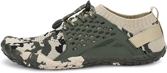 Oberm Zapatillas de correr para hombre, minimalistas, con puntera ancha, zapatos de agua, Multicolor (Negro/Verde), 48 EU: Amazon.es: Zapatos y complementos