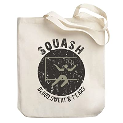Teeburon Squash blood sweat tears Canvas Tote Bag