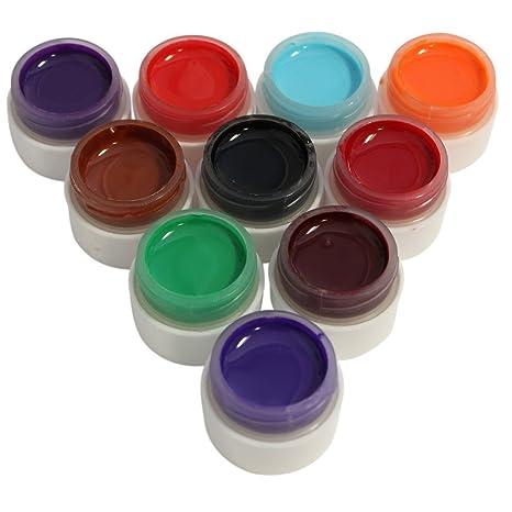 Kurtzy TM Set Surtido de 10 Diseños de Uñas Diseño UVA Gel de Brillo Metálico-