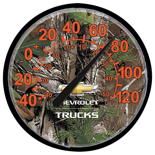 Greg's Automotive Realtree Trucks Camouflage Camo Wall Thermometer Compatible with Chevrolet Chevy 12