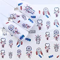 Niome 2 Sheets Nail Art Stickers Cute Cartoon Water Transfer Decals Tip Decoration DIY Child Adult Fashion A1245