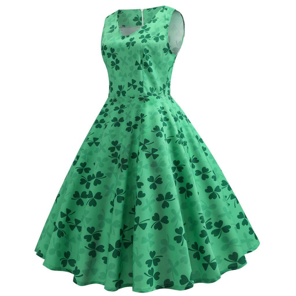 Disfraz de San Patricio, de ZHANSANFM, para mujer, de trébol verde ...