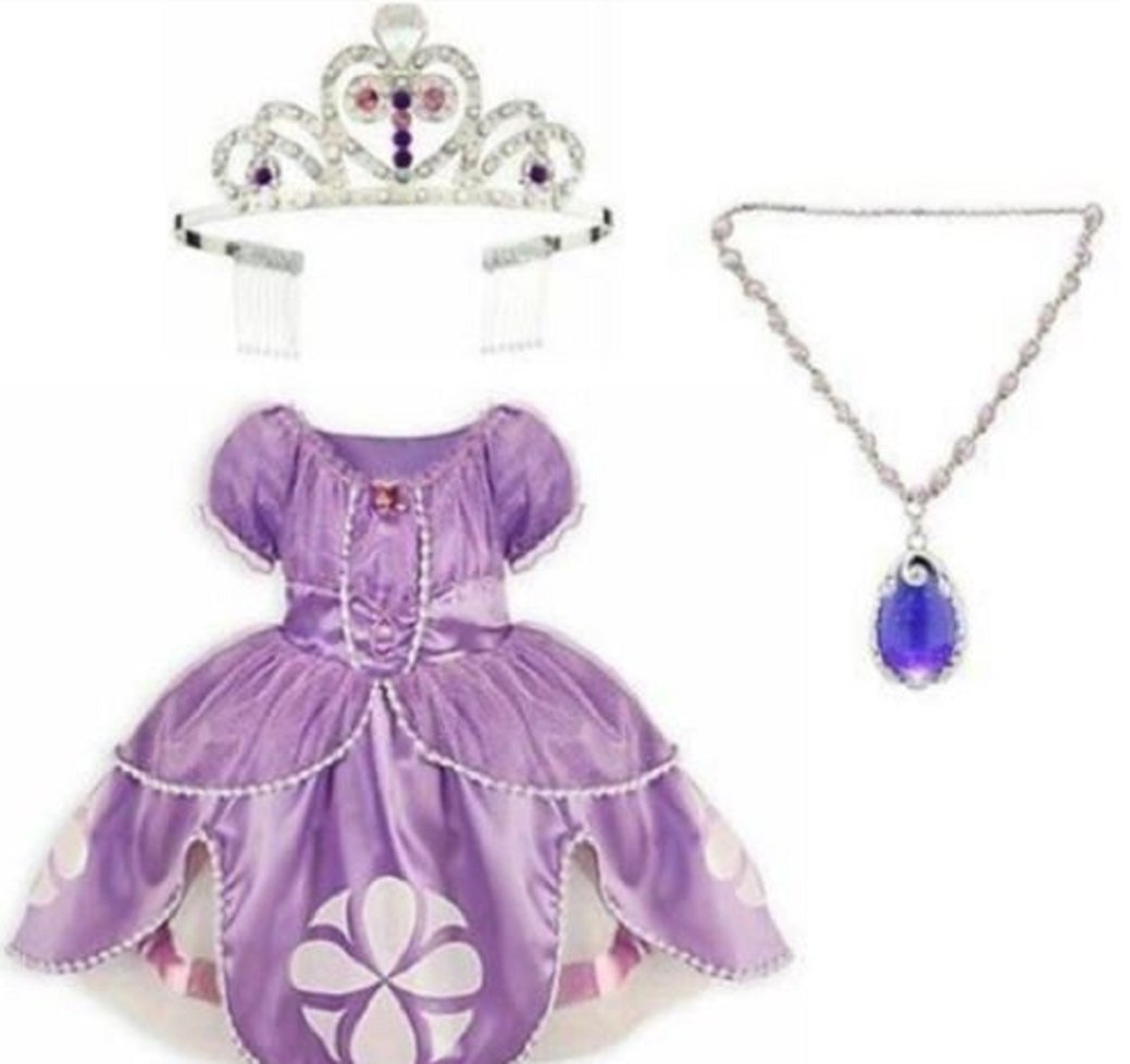 Amazon.com: Disney Store Sofia the First Dress Gown Costume Amulet ...