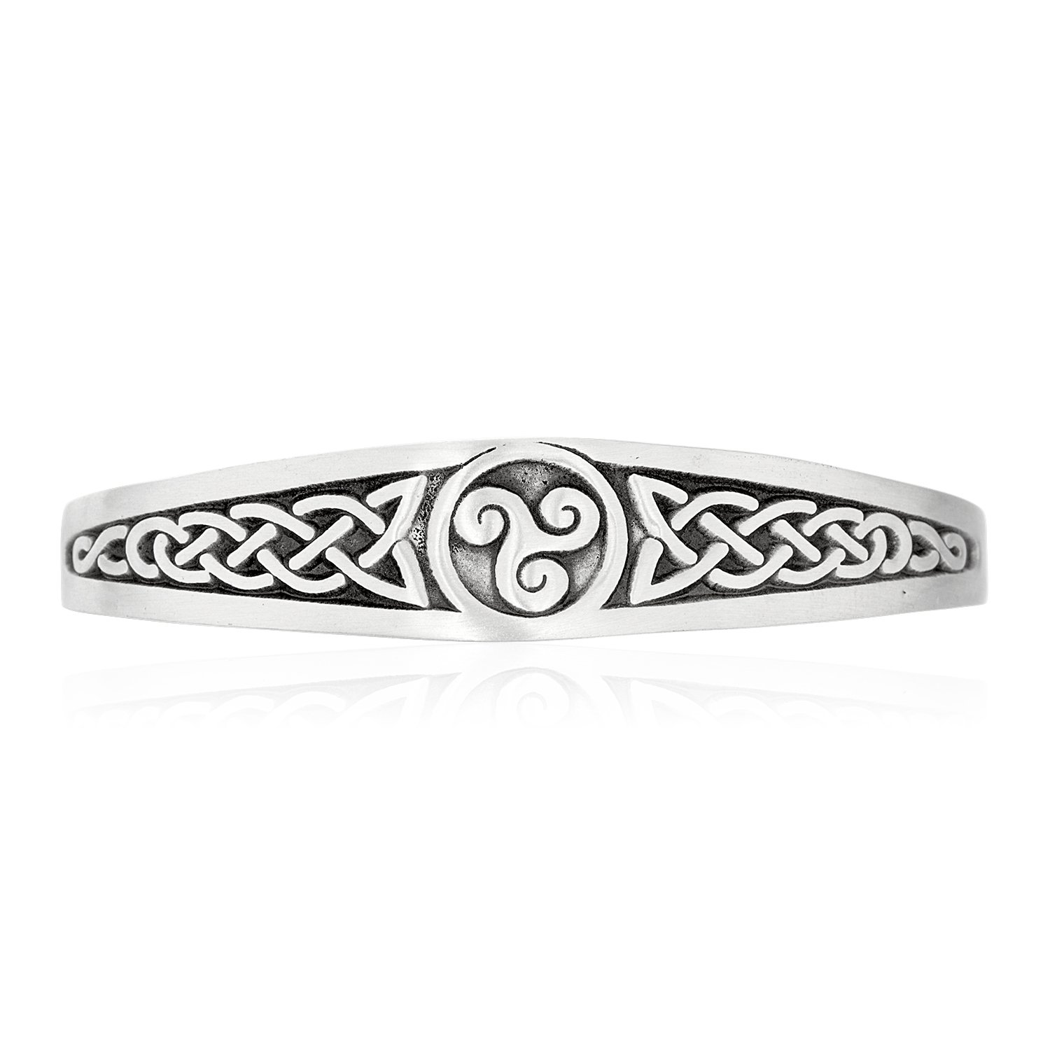 Dan's Jewelers Irish Triskele Celtic Knot Bracelet, Fine Pewter Jewelry