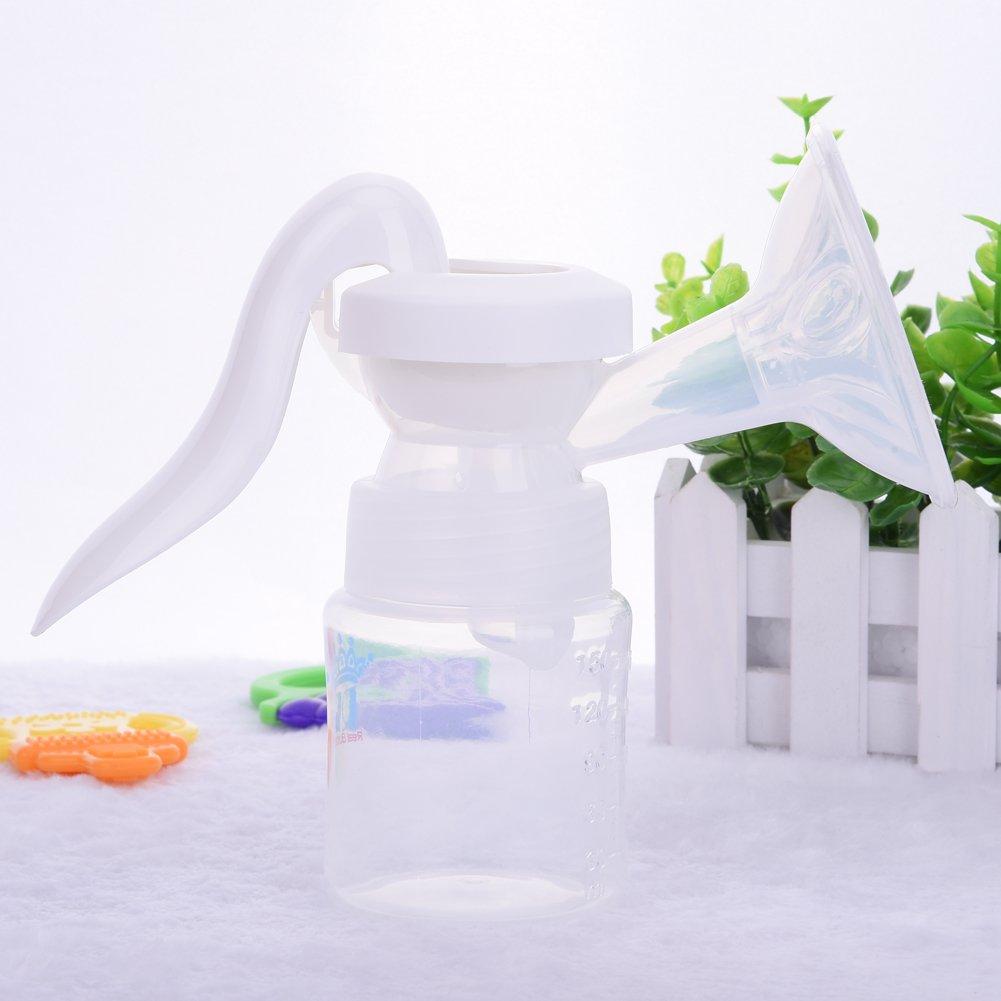Handmilchpumpe zum Stillen f/ür das Stillen Baby Per Einstellbar Komfort Milchpumpe manuelle Bedienung