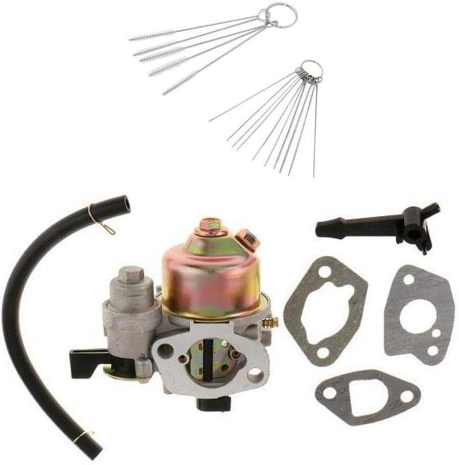 joyMerit Carburador Carb para Honda GX160 GX200 Y Tubería De Combustible, Interruptor, Juntas, Herramientas De Limpieza Sierra De Cadena Cortacésped Reemplazos