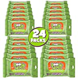 Boogie Wipes Soft Natural Saline Wet Tissues for Baby and Kids Sensitive Nose, Hand, and Face with Moisturizing Aloe, Chamomile, and Vitamin E, Fresh Scent, 10 Count Travel (Pack of 24)