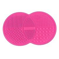 ODN Nettoyeur pour Pinceaux de Maquillage Nettoyant en Silicone et Tapis Nettoyage Pinceaux Nettoyer Laver Brosse de Maquillage Outil Maquillage (Pink)
