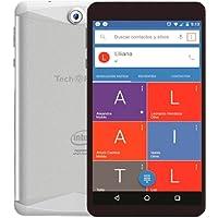 "Tech Pad S813G Phablet 7"", Quad Core, 8GB Disco Duro, 1GB RAM, Cámara 0.3/2.0MP, 3G Dual SIM, Android 6.0, Black"