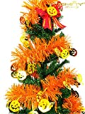 DUOBAO Christmas Fringe-Foil-Tinsel-Garland-Gold & Pumpkin-6.5Ft-Long for Christmas Tree ornament, New Year Children Party Ornaments Decoration,Pack Of 15~1205S