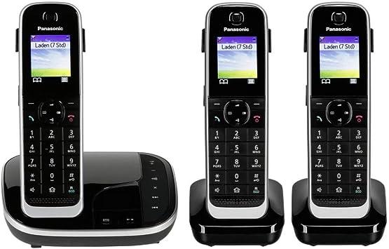 Panasonic KX-TGJ323 - Teléfono (Teléfono DECT, Altavoz, 250 entradas, Identificador de Llamadas, Servicios de Mensajes Cortos (SMS), Negro) [versión importada]: Amazon.es: Electrónica